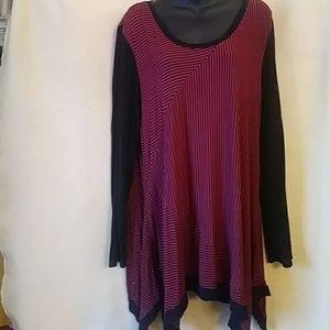 Philosophy red/black striped knit dress-sz XXL